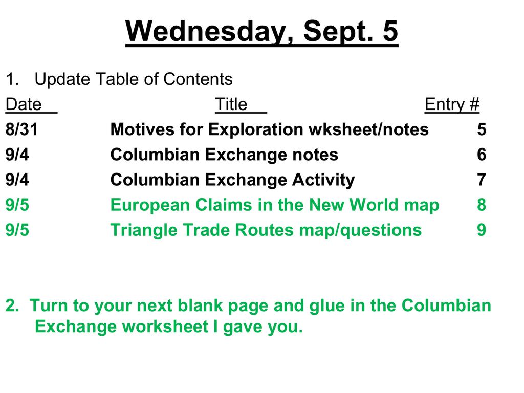 Worksheets Columbian Exchange Worksheet columbian exchange