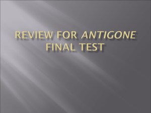 Review for Antigone Final Test