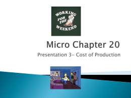 Micro Ch 20- presentation 3 Explicit and Implicit Costs