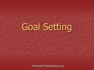 Goal Setting PPT - Finance in the Classroom