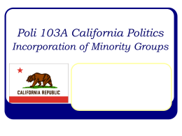Political Incorporation of Minority Groups.