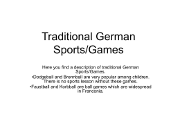 Traditional German Sports/Games