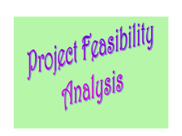 Project Feasibility Analysis 1
