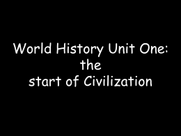 Characteristics of Early Civilization