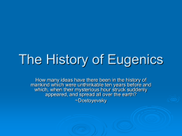 The History of Eugenics