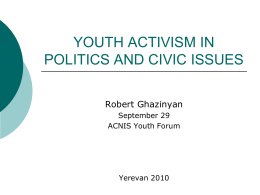 Youth Activism in Politics in Civic Issues