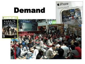 Demand Notes Fall 2011