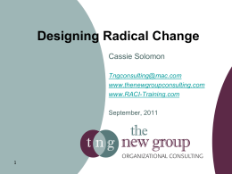 Designing Radical Change