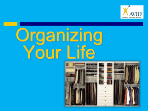 Organizing Your Room