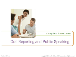 Public Speaking and Oral Communication