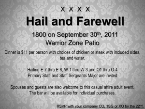 Hail and Farewell Invite
