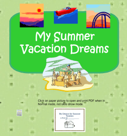 Summer Vacation Dreams PPt