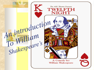 Twelfth Night and Shakespearean comedy