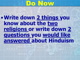 Chapter 5 Section 2 Hinduism