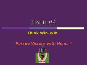 Habit #4 - Leo Hayes High School