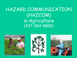 Hazard Communication (HAZCOM) in Agriculture (437-004
