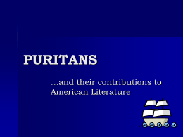 Puritan Power Point