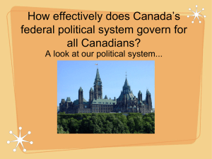 How effectively does Canada`s federal political system govern for all