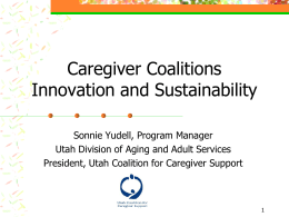 Caregiver Coalitions Innovation and Sustainability