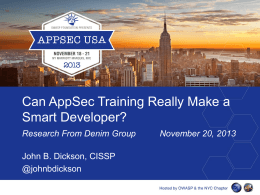 Can AppSec Training Really Make a Smarter Developer?