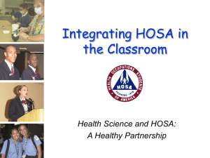 Integrating HOSA in the Classroom