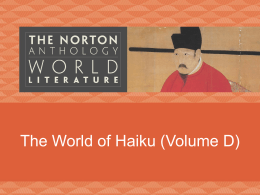 The World of Haiku