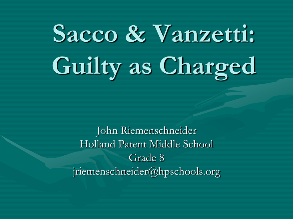 sacco and vanzetti guilty