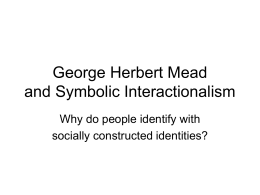George Herbert Mead powerpoint