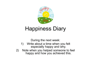 Happiness Diary