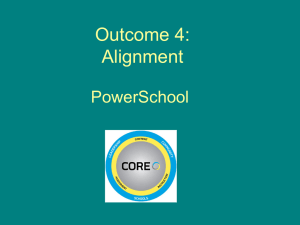 Outcome 4 Alignment