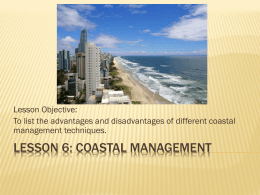 Lesson 6 Coastal Management