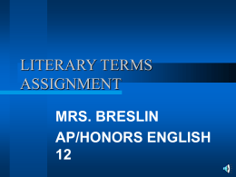 LITERARY TERMS ASSIGNMENT