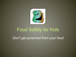 Food Safety for Kids - Communicating Food for Health