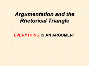 The Rhetorical Triangle - English with Mrs. Pickrell