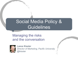 Social Media Policy & Guidelines