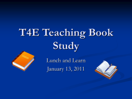 T4E Teaching Book Study