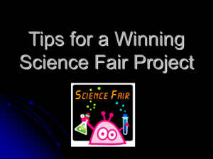 Tips for a Successful Science Fair Project