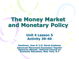 The Money Market and Monetary Policy