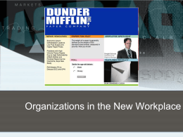 1.2 Organizations in the New Workplace