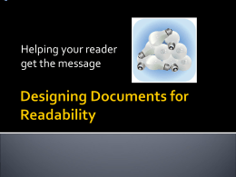 Designing Documents for Readability