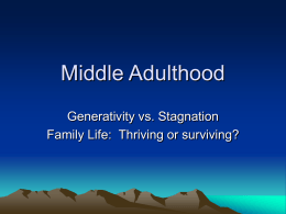 Middle Adulthood - Seattle Central Community College
