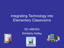 Integrating Technology into Elementary Classrooms