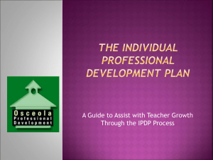 INDIVIDUAL Professional Development PLAN