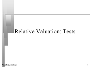 Relative Valuation: Tests