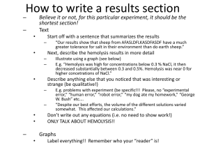 How to write a results section