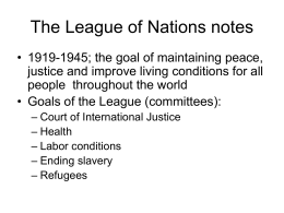 The League of Nations notes