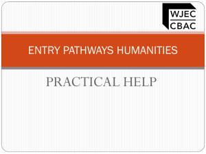 ENTRY PATHWAYS HUMANITIES