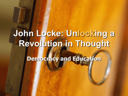 John Locke: Unlocking a Revolution in Thought - Online