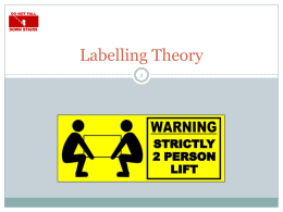 Labelling Theory