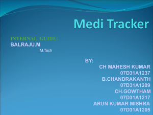 Medi Tracker - My projects